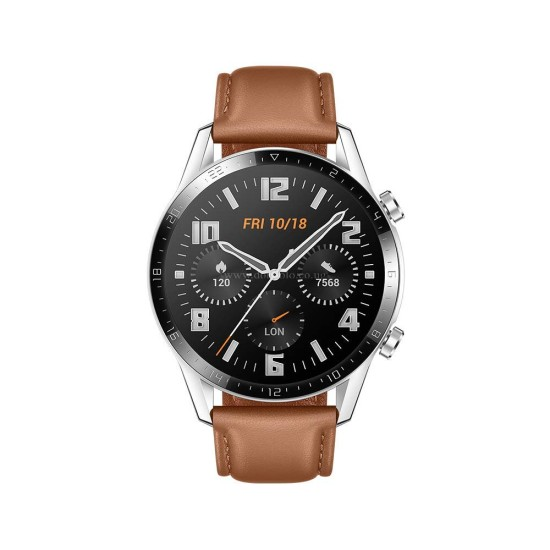 Huawei Watch GT 2 2019 Bluetooth SmartWatch Longer Lasting 2 Weeks Battery Life Waterproof Compatible with iPhone and Android, 46mm
