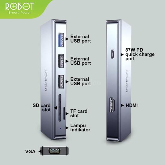 Robot HT390, 9in1 USB Hub